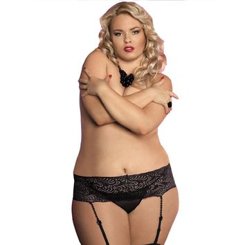 Plus Size XXXL Bead Garters for Stockings Black White Sexy Lace Wedding Garter Belt Bridal Lace Suspender for Women Fat