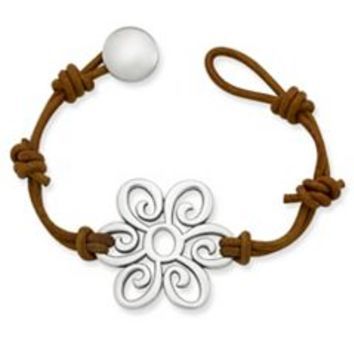 Summer Blossom Leather Bracelet | James Avery
