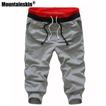 Mountainskin 2018 Spring Summer Mens Leisure Calf length Cropped pants Man Drawstring Joggers Baggy Streetwear