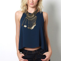 Decker One With You Top - Navy