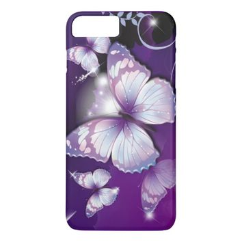 Purple Butterflies iPhone 8 Plus/7 Plus Case