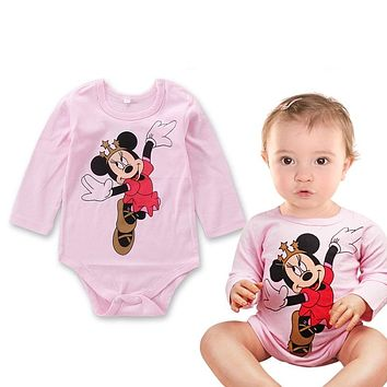 New Cute Cartoon Baby Rompers Long Sleeve Cotton Baby Girl Clothes Infant Jumpsuits Roupsa Bebe Toddlers Baby Boys Clothing