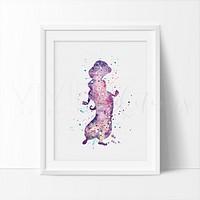 Princess Jasmine 2, Aladdin Watercolor Art Print