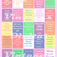 "Inspiration Quotes Quotes to Live By Planner Stickers Life, Inspirational Printable Digital 1.5""x1.9"" erin condren weekly planner Daily Box"