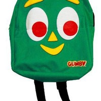 Gumby Face Cartoon TV Show Kids Mini Backpack