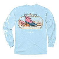 Rain or Shine Long Sleeve Tee in Chambray by Lily Grace - FINAL SALE