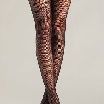 Black Fishnet Thigh Highs With Bow and Handcuffs