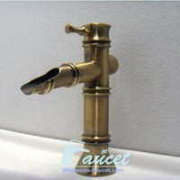 Antique Brass Bamboo Bathroom Faucet 0020A