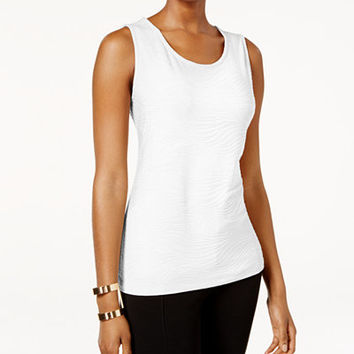 JM Collection Jacquard Tank Top, Only at Macy's - Tops - Women - Macy's