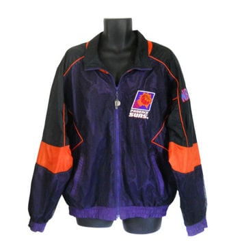 Vintage Phoenix Suns Windbreaker Men Windbreaker Nylon Jacket Windbreaker Jacket 90s Windbreaker Track Jacket Lightweight Jacket XXL Jacket