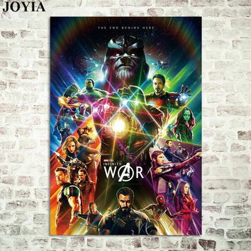 Avengers Infinity War Poster,Marvel Movie New Prints Superheroes Alliance Comics Wall Posters, Room Decor Canvas Art Pictures