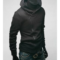 Free Shipping Fashion Mens Black Designed Hoodies S/M/L/XL H3S0W01