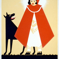 Red Riding Hood Vintage WPA Reading Poster on 8x12 PopMount Ready to Hang FREE SHIPPING
