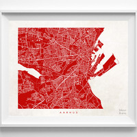 Denmark, Aarhus, Print, Map, Poster, State, City, Street Map, Art, Decor, Town, Illustration, Room, Wall Art, Customize, Living Room, Dorm
