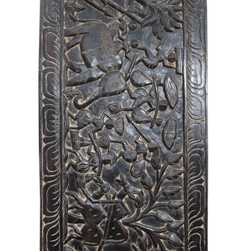 India Wall Panel Tribal Hand Carved Headboards Antique Rustic Furniture