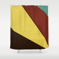 Retro Earth Tones Shower Curtain by Simply Chic