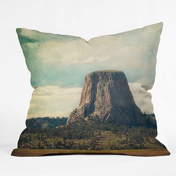 Catherine McDonald Devils Tower Throw Pillow