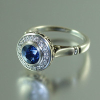 THE SECRET DELIGHT 14k gold Blue Sapphire engagement by WingedLion