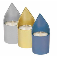 Anodized Aluminum Memorial Candle Holders