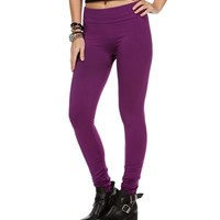 Purple High Waisted Fleece Leggings