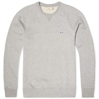 Maison Kitsuné Tricolour Fox Crew Neck Sweat