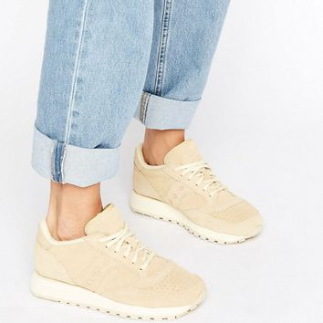 Saucony Jazz O Suede Trainers In Beige at asos.com