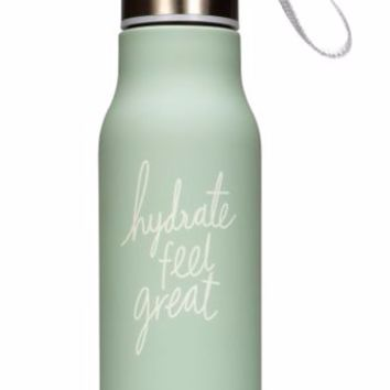 Hydrate Feel Great Water Bottle in Mint by We Live Like This