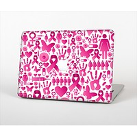 """The Pink Collage Breast Cancer Awareness Skin Set for the Apple MacBook Air 11"""""""