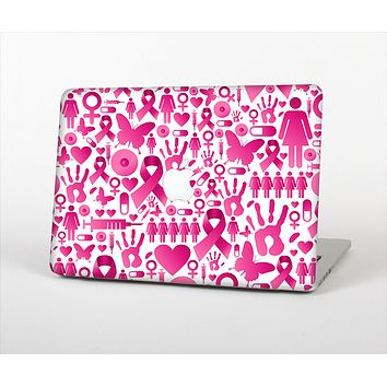 "The Pink Collage Breast Cancer Awareness Skin Set for the Apple MacBook Pro 15"" with Retina Display"