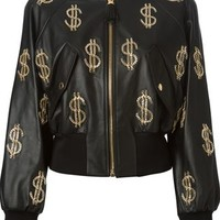 Moschino Chain Dollar Sign Bomber Jacket - Stefania Mode - Farfetch.com