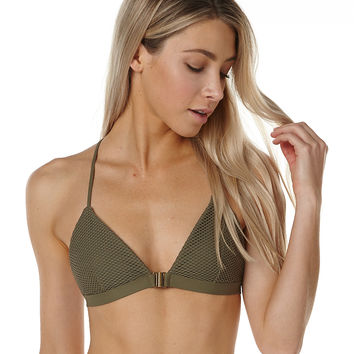 BILLABONG MESHING WITH YOU FIXED TRI SEPARATE TOP - KHAKI SAND
