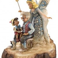 Disney Traditions Wishing Upon A Star-Pinocchio Figurine by Clinton Cards - for £59.00