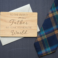 Father's Day Card - Wood Card - Gift for Dad - Dad Card - Fathers Day Card