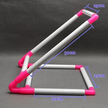 V Shape PVC Cross Stitch Cloth Clip Holder Rack Desktop PVC Embroidery Frame