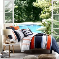 Dylan Cobalt Quilt Cover Set by Platinum Collection