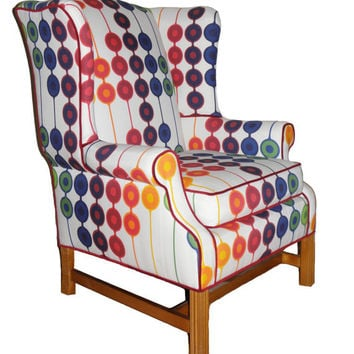 Refurbished Vintage Wingback Arm Chair