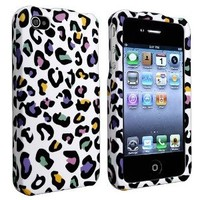 Amazon.com: MYBAT Colorful Leopard Snap-on Case Compatible With Apple® iPhone® 4S AT&T / Verizon / Sprint: Cell Phones & Accessories