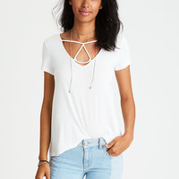 AEO Soft & Sexy Triangle T-Shirt , Natural White