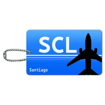 Santiago Chile SCL Airport Code ID Card Luggage Tag