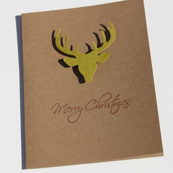 Deer Christmas Cards, Set of 60