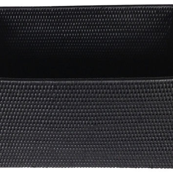 Rectangular Storage Basket, Black, Storage Baskets