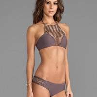 Acacia Swimwear Panama Bikini Top in Fig