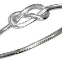 Sterling Silver Wire Infinity Knot Ring (size 07)