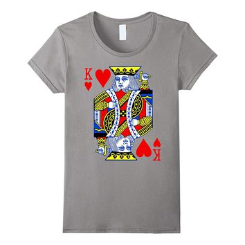 Valentines Day Shirt Couples King Queen Of Hearts Deck Cards