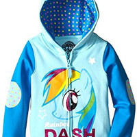 My Little Pony Little Girls' Rainbow Dash Hoodie, Light Blue/Blue, 5/6