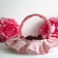 Wedding, flower girl, basket, country by VintageInspiration on Zibbet
