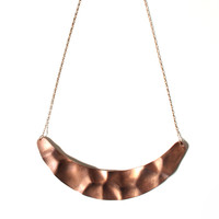 Copper Sickle Necklace
