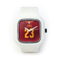 LeBron James Watch in a White Strap