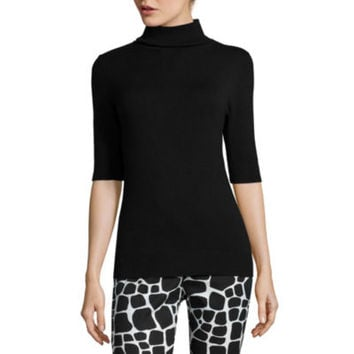 Liz Claiborne® Elbow-Sleeve Turtleneck Sweater - JCPenney
