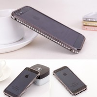 Toch TM Crystal Rhinestone Bling Metal Bumper Frame Case For iPhone 6